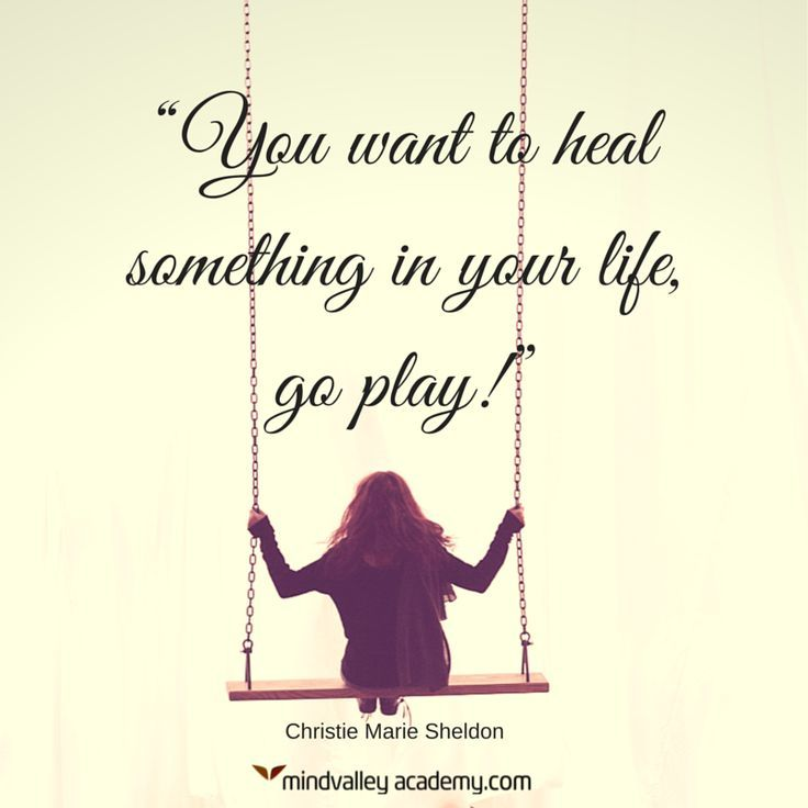 Play is the ultimate healer. From Christie Marie Sheldon - one of America's most loved energy healers.