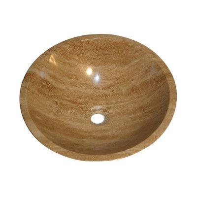 Web Photo Gallery Silkroad Exclusive Travertine Stone Vessel Sink Bowl Bathroom Sink