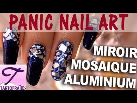 Panic Nail Art : Ongle Miroir Tuto sans matériel (+playlist)