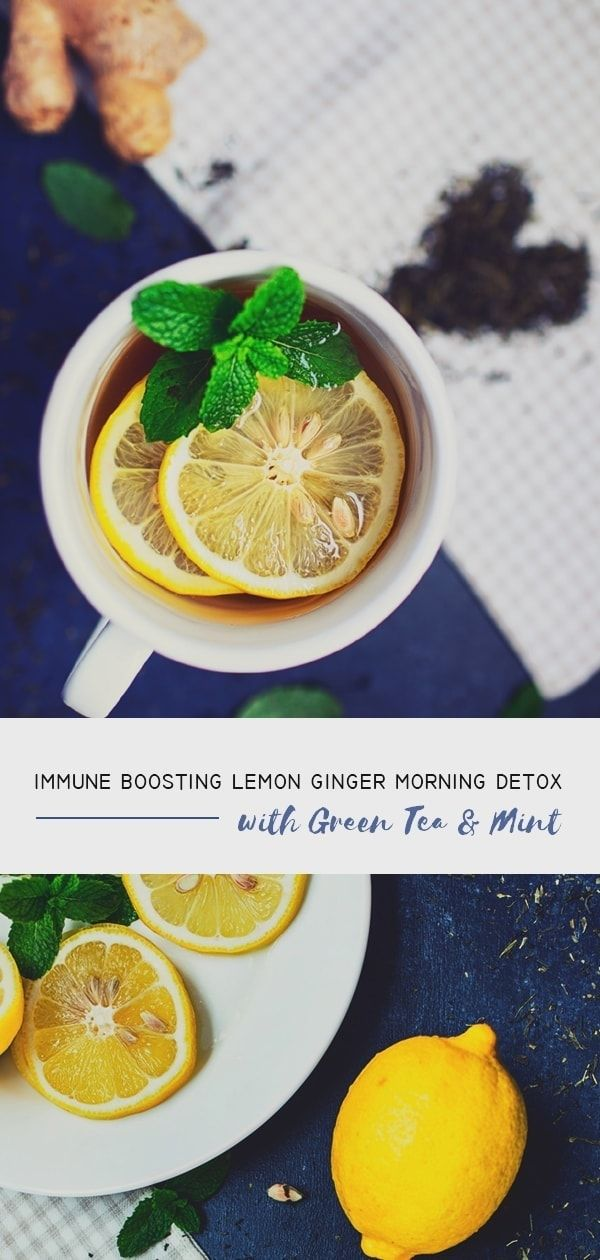 This immune-boosting lemon ginger tea detox drink is one of our favourite detox drink —especially in the morning to clear our mind and boost productivity. #drinksometea #tea #greentea #drinkrecipes #detoxdrinks #detox #healthlifestyle #healthyrecipes  #healthyfood #healthy via @atraveldiary