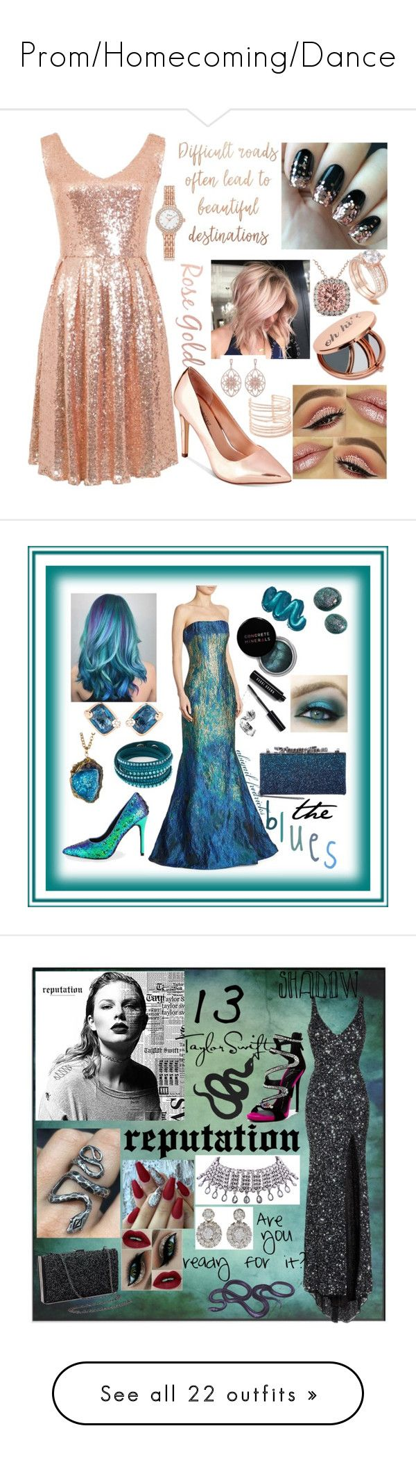 """Prom/Homecoming/Dance"" by abigail-fredricks ❤ liked on Polyvore featuring Allurez, Alexis Bittar, Call it SPRING, Miss Selfridge, Latelita, Rene Ruiz, Pomellato, Mermaid Salon, Bobbi Brown Cosmetics and Jimmy Choo"