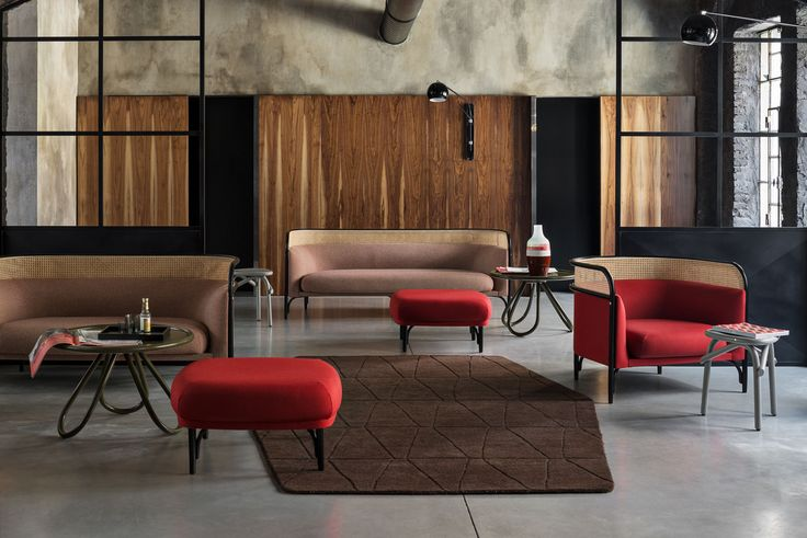 Gebruder Thonet Vienna, TARGA Sofa Lounge & Pouf Design by GamFratesi | http://decdesignecasa.blogspot.it