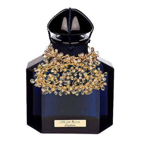 """Guerlain ~ Parfum """"L'Heure Bleue"""" par Baccarat et Maison Gripoix. Edition limitée à 43 exemplaires, 490ml, 11 000 euros."""