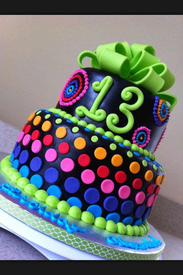 I love this cake and I bet it would be a good surprise for a 13 year old girl