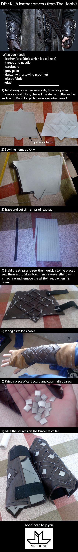 DIY : Kili's leather bracers from The Hobbit by MojulineLC.deviantart.com on @DeviantArt