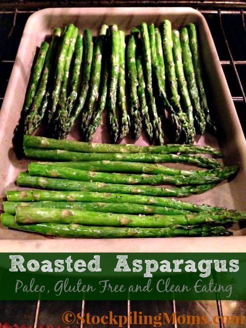 Roasted Asparagus is so easy to make and tastes delicious.  This easy side dish is Gluten Free, Paleo and Low Fat!