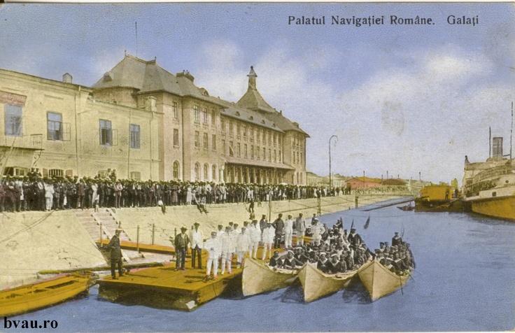 """Palatul Navigaţiei Române, Galati, Romania, anul 1927.  Imagine din colecţiile Bibliotecii Jedeţene """"V.A. Urechia"""" Galaţi."""