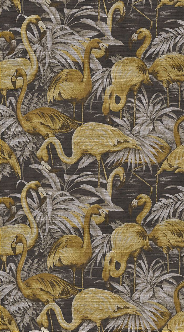 Tendance exotique Papier peint Flamingo, Collection Avalon (Arte international)