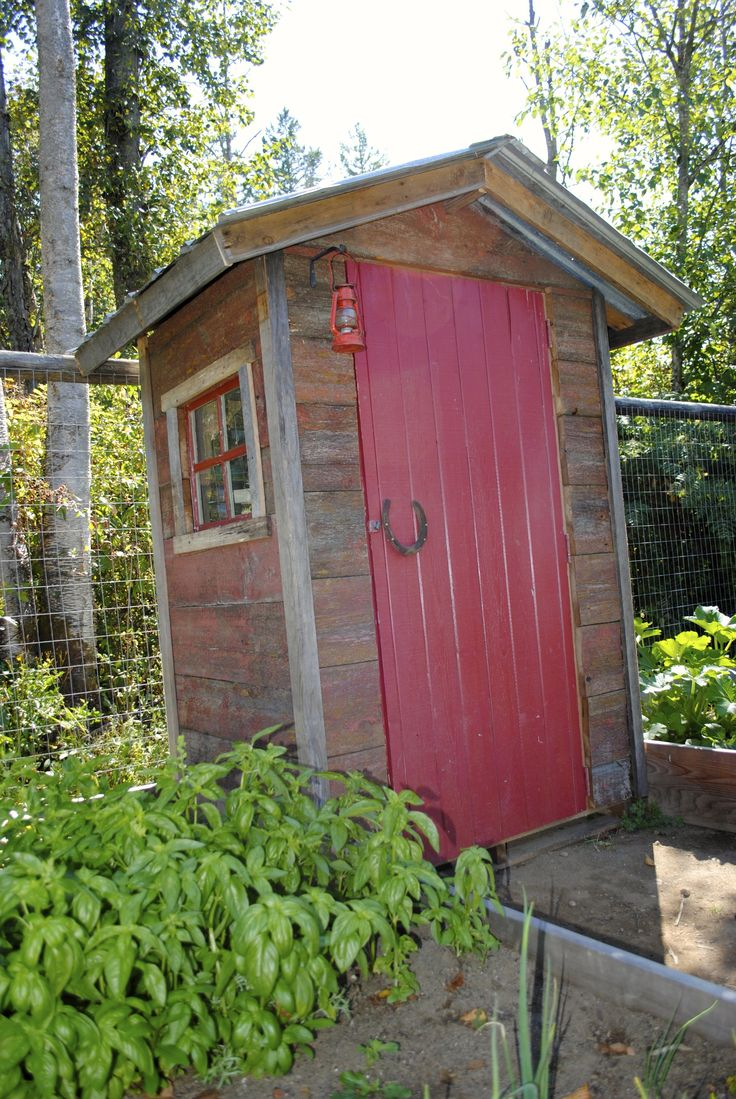 Garden Shed Made Completely From Recycled Materials