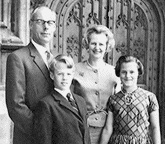 Margaret Thatcher family - Denis and twins, Mark and Carol