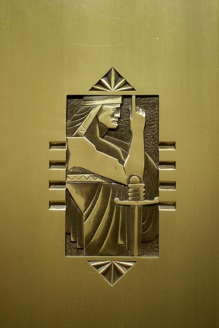Buffalo City Hall, Elevator Door Detail, via Flickr.