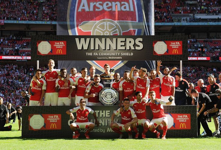 "Exclusive Photos: Arsenal Beat Chelsea To Emerge Winner Of ""The FA Community Shield"""
