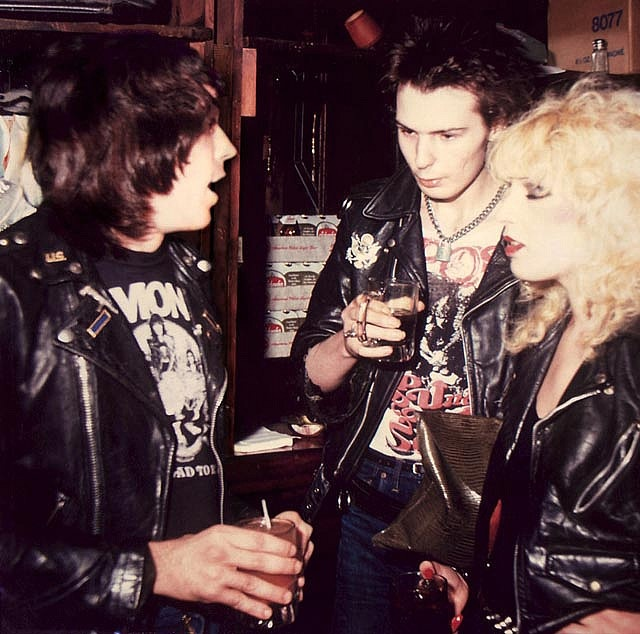 Marky Ramone with Sid & Nancy    New York 1978
