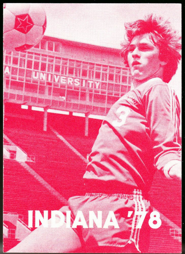 1978 INDIANA HOOSIERS FIRST NATIONAL BANK MENS SOCCER POCKET SCHEDULE FREE SHIP  #PocketSchedules