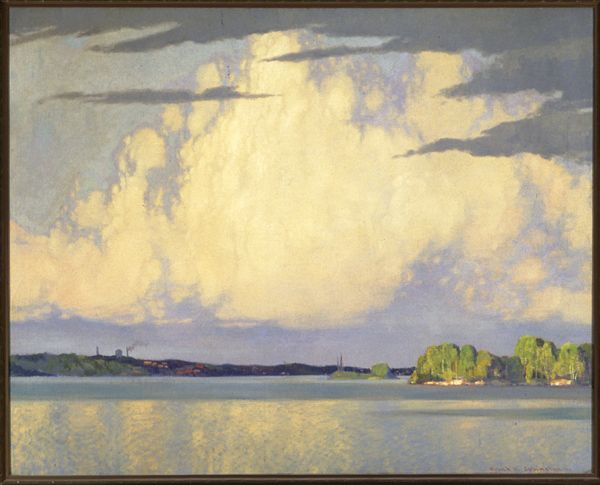 """Serenity, Lake of the Woods,"" Frank H. Johnston, 1922, oil on canvas, 40.25 x 50.5"", Winnipeg Art Gallery."