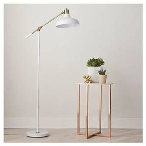 Crosby Schoolhouse Floor Lamp - White (Includes CFL Bulb) - Threshold™ : Target