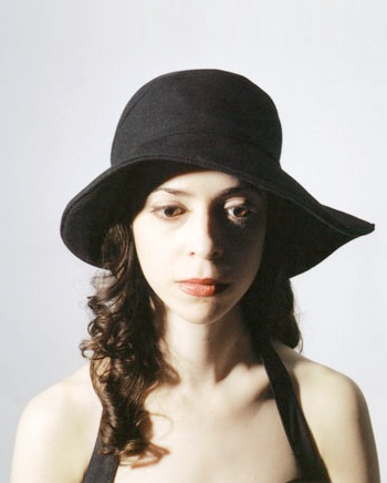 Spiral 60's hat, black cashmere