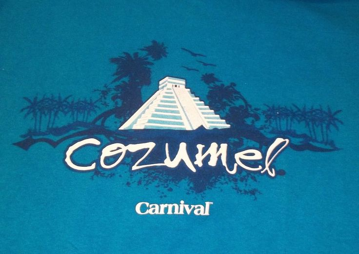 Carnival Cruise Line Cozumel Mexico Blue T-Shirt Adult XL X-Large
