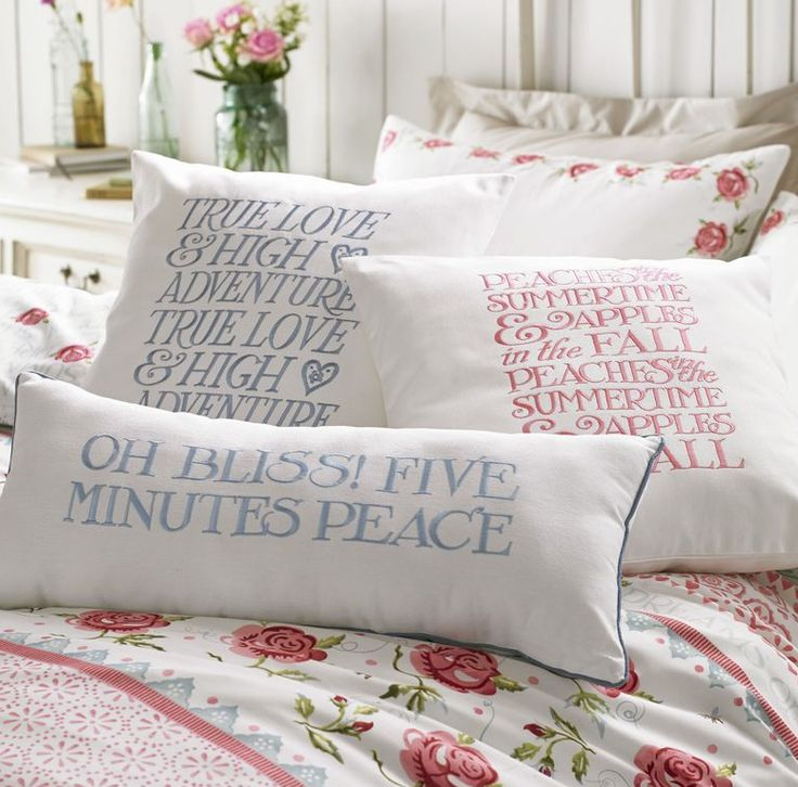 Bliss and heaven @emmabridgewater cushions #freedelivery #luv #bliss www.thecurtainbar.com