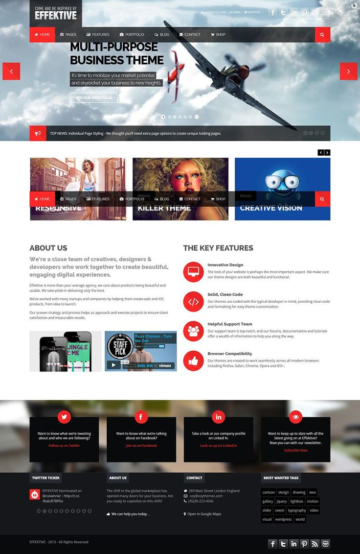 The EFFEKTIVE is the most flexible and attractive theme we've ever created. It's a highly versatile Premium WordPress theme that everybody w...