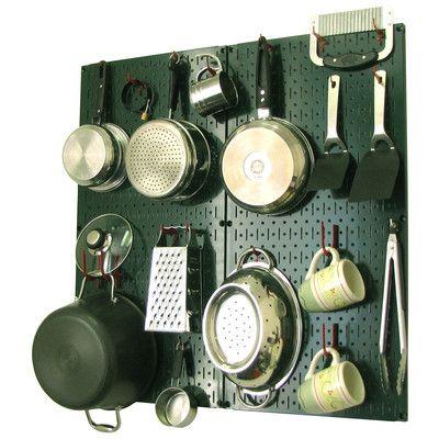 Wall Control Kitchen Organizer Pots & Pans Pegboard Pack & Reviews   Wayfair