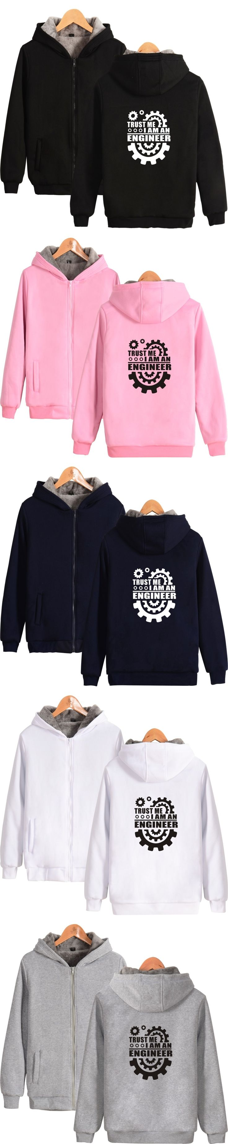 Trust Me I am An Engineer Hoodie With Zipper Men Thick Warm Winter Hooded Sweatshirt Trust me, i'm an engineer Thick Hoodie