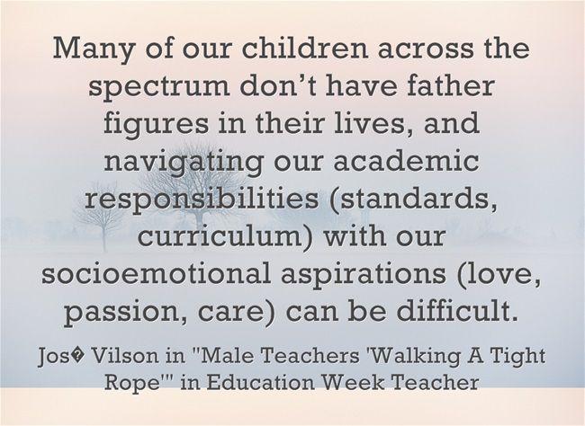 Response: Male Teachers 'Walking A Tight Rope' My new Ed Week post