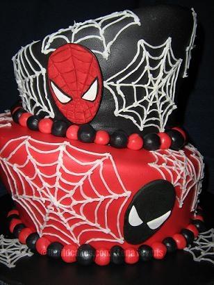 Spiderman and Venom birthday cake