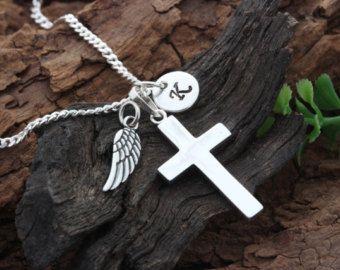 Sterlingsilber kleine Kreuz Halskette wählen von MCACrossesJewelry