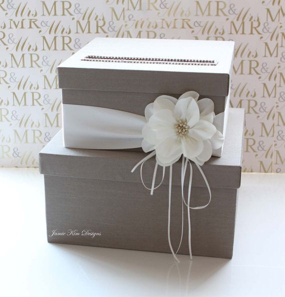 Wedding Gift Money Card : Card Box Wedding Money Box Gift Card Box - Custom Made Wedding, Gift ...