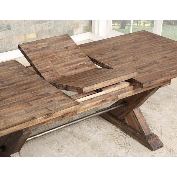 Weesner Butterfly Leaf Dining Table Pallet Dining Table Wood