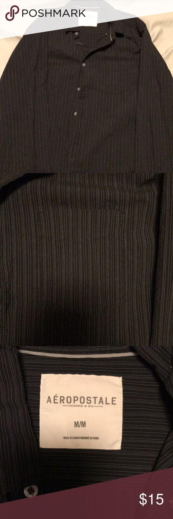 Aeropostale button down shirt Aeropostale button down shirt. Never worn but missing top button. Aeropostale Shirts Casual Button Down Shirts