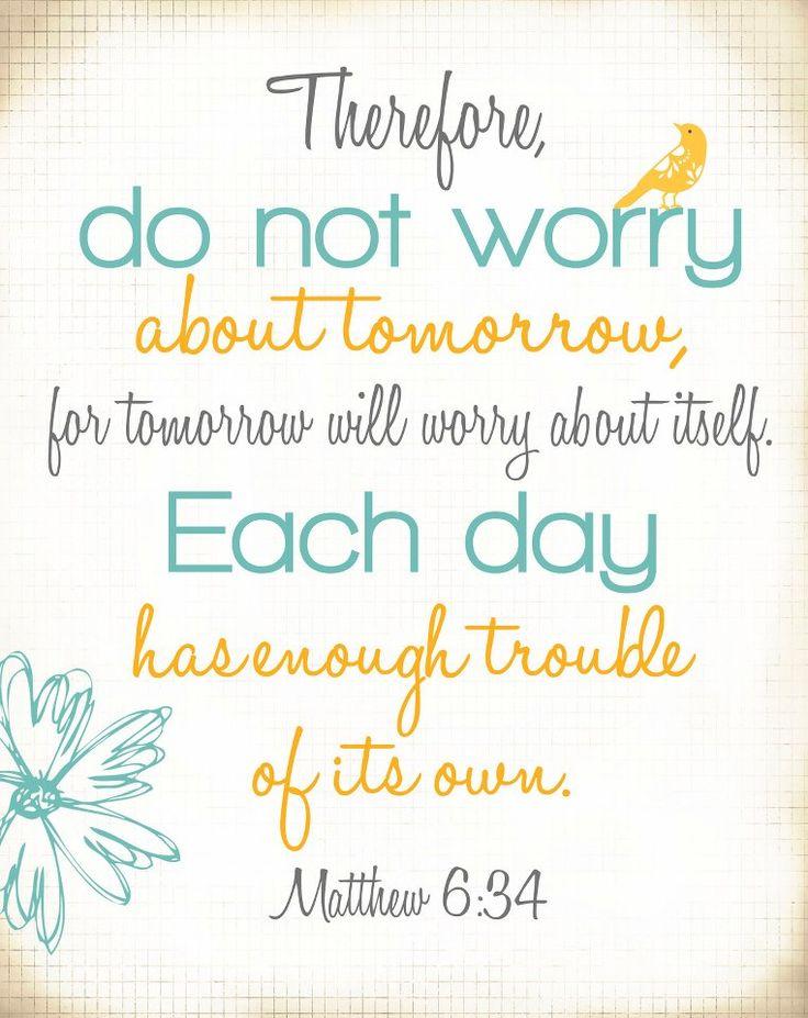 Matthew 6:34 #JesusCalling #January31