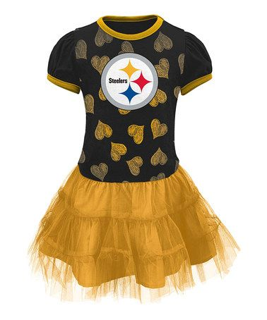 Another great find on #zulily! Pittsburgh Steelers Love to Dance Tutu Tee - Girls #zulilyfinds