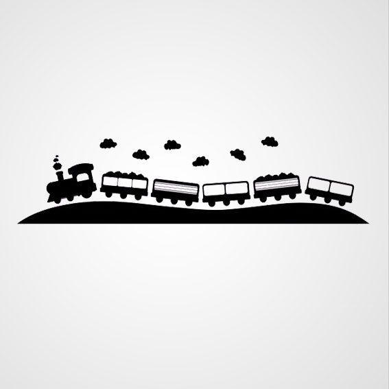 trein - Dewiha Art - Muursjablonen en Muurstickers