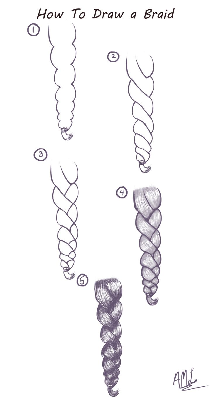 How To Draw a Braid: Here is a quick and easy Tutorial on how to draw a Braid. (…