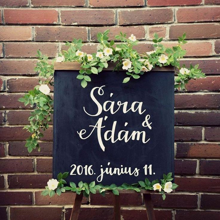 Krétatábla esküvőre  facebook/kisdiodekor
