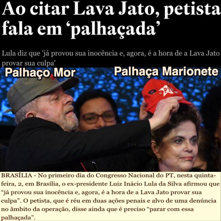 Ao citar Lava Jato, Lula fala em 'palhaçada' [Estadão] http://politica.estadao.com.br/noticias/geral,ao-citar-lava-jato-petista-fala-em-palhacada,70001823003 ②⓪①⑦ ⓪⑥ ⓪② #LulaNaCadeia