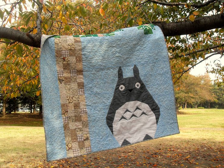 Totoro Baby Quilt - modified version of the previously pinned pattern