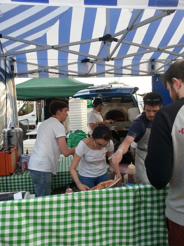 Pizza Pilgrims at Hyde Park festival