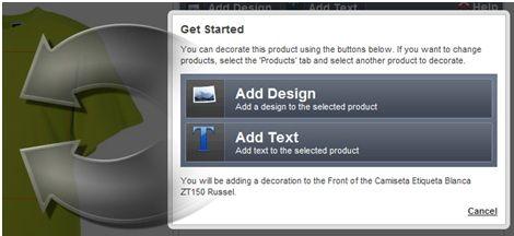 Como utilizar el diseñador en línea - Camisetas Personalizadas online