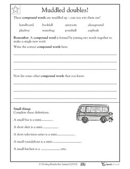 2nd grade reading writing worksheets compound words all mixed up your second grader 2nd. Black Bedroom Furniture Sets. Home Design Ideas