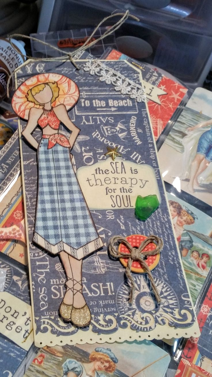 Tag for Luanne - using Julie Nutting stamp Gina