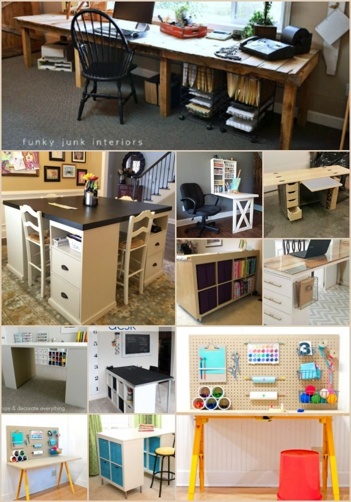 17 Easy To Build Diy Craft Desks You Just Can T Live Without Diy Crafts Desk Craft Table Diy Craft Desk