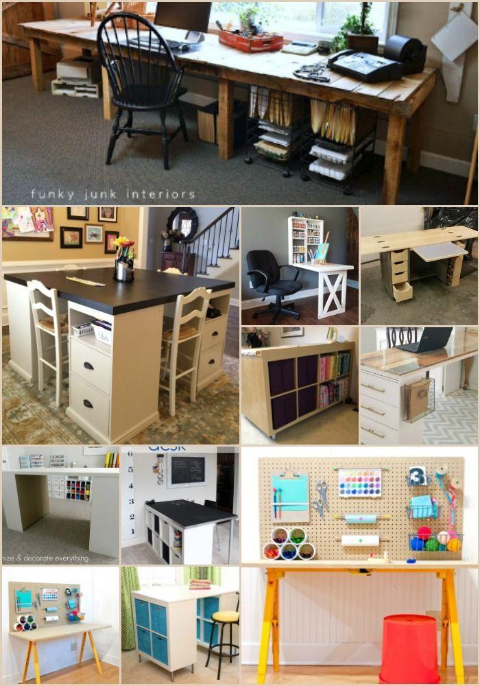 17 Easy To Build Diy Craft Desks You Just Can T Live Without Diy Crafts Desk Craft Table Diy Craft Desk