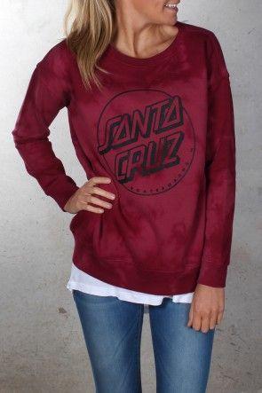 Santa Cruz - Keyline Girls Crew Berry Tie Dye $79.95 Shop Via ll http://www.jeanjail.com.au/ladies/santa-cruz-keyline-girls-crew-berry-tie-dye.html