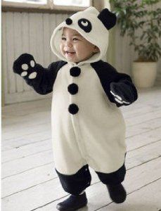 1.) Baby Panda Onesie, black and cream. I'd recommend this for 1-3 year olds, for the 'CUTE' factor! (Got this image off Google Images.)