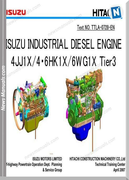 Isuzu 4Jj1X 6Hk1 6Wg1 Engine Tier 3 Traing Manuals | Engine