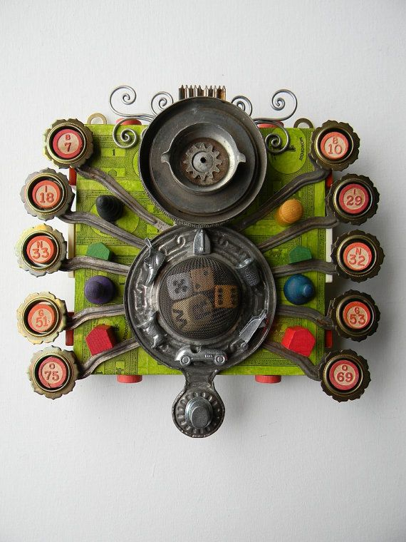 Recycled Art Assemblage    Cyclopean Goddess of by redhardwick, $115.00