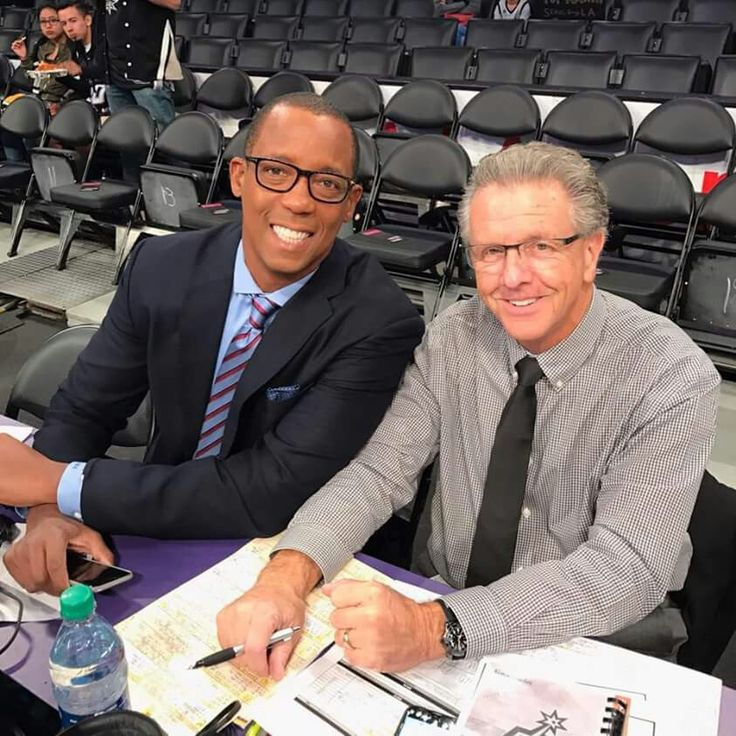 Our two favorite Spurs announcers, Sean and Bill